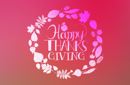 Flat design style Happy Thanksgiving Day lettering, badge and icon. Happy Thanksgiving Day template. Thanksgiving Day card template. Happy Thanksgiving banner