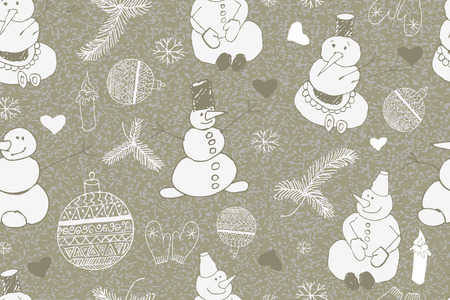 tiling: Christmas background, seamless tiling, great choice for wrapping paper pattern. Vector illustration