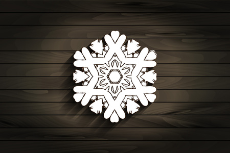 Vintage ornamental pattern. Lacy snowflake against grungy background