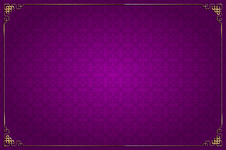 purple abstract background: Vector purple background with abstract pattern chinese style and gold decoration