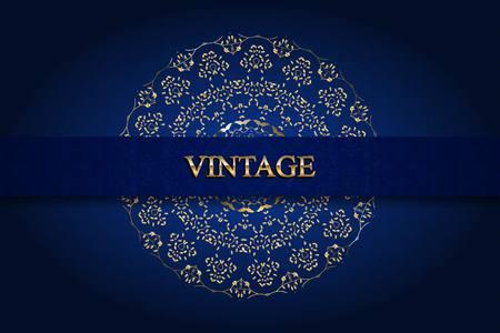 Vintage monogram gold. Elegant emblem for hotels, restaurants, bars, and public institutions.  brochures, presentations, invitation cards.