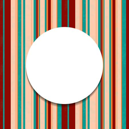 Vintage banner. Round frame on striped seamless background. Illustration