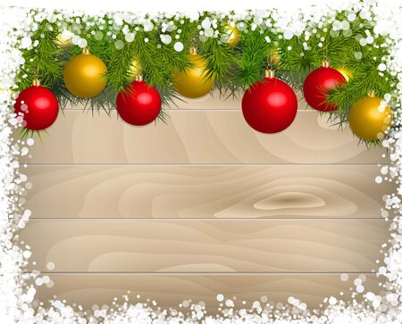 timbered: Christmas decoration Background Template.
