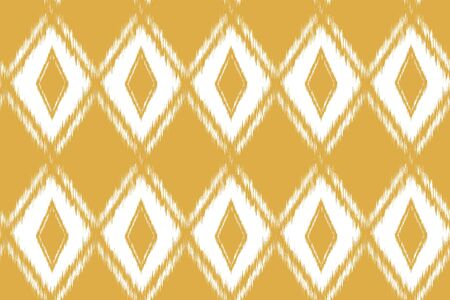 Seamless pattern Tribal Art Ikat Ogee in traditional classic. Boho style. Vector illustration Illustration