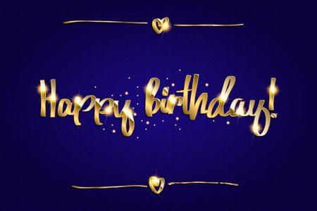 gold sparkles background happy birthday happy birthday background