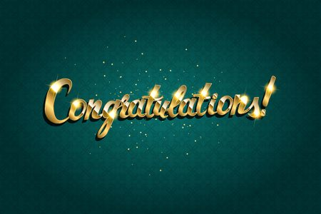 praise: Congratulations. Hand lettering. Modern brush calligraphy Vector illustration