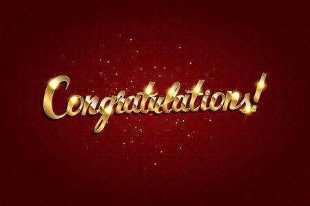 Congratulations. Hand lettering. Modern brush calligraphy Vector illustration