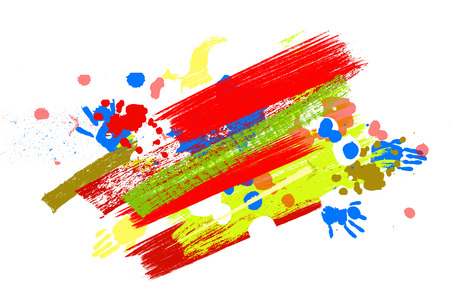 Bright color Vector Paint Splashes. Indian Holi Festival Background. Illustration