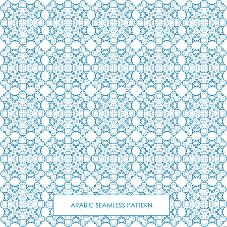 Modern line vector traditional arabic pattern background design. Ideal for wall decoration, printables and wrapping paper design Illustration
