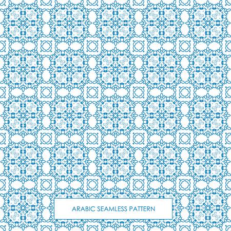Modern line vector traditional arabic pattern background design. Ideal for wall decoration, printables and wrapping paper design. Illustration