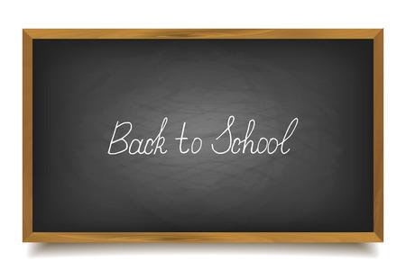school chalk font, vector, big black board Stock fotó - 82828663