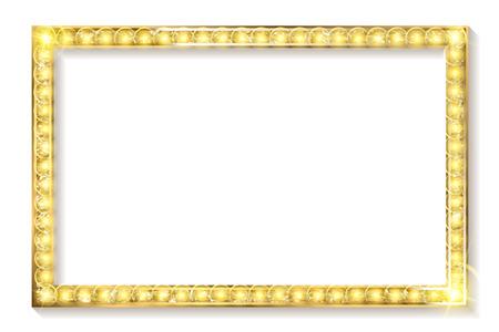 gold frame cinema on a white background. Vector illustration Illustration