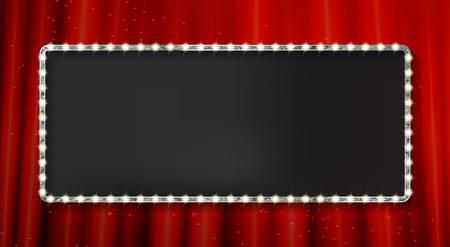 Silver frame cinema on a white background. Vector illustration