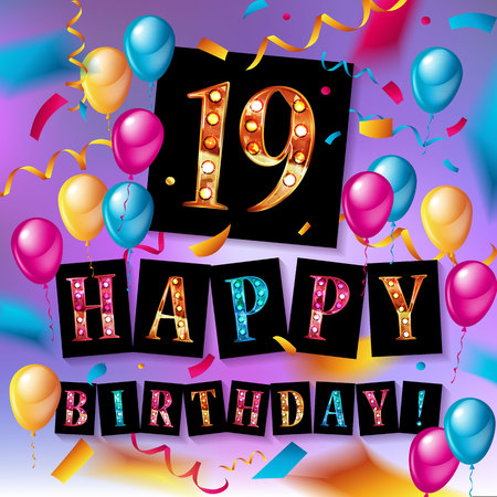 19th Birthday Stock Illustrations Cliparts And Royalty Free 19th
