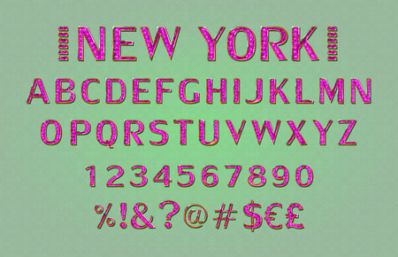 Font. Alphabet. Script. Typeface. Label. Modern New York typeface For labels and different type designs