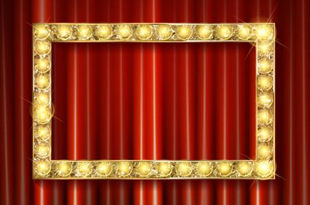 Bandera de luz retro brillante. Ilustración vectorial eps 10