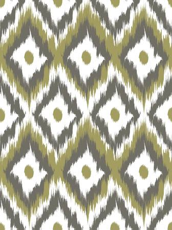 Seamless pattern Tribal Art Ikat Ogee in traditional classic colors. Vector illustration 向量圖像