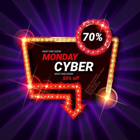 Cyber Monday Sale. Vector illustration