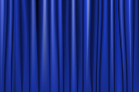 Theater stage blue curtain. Vector illustration
