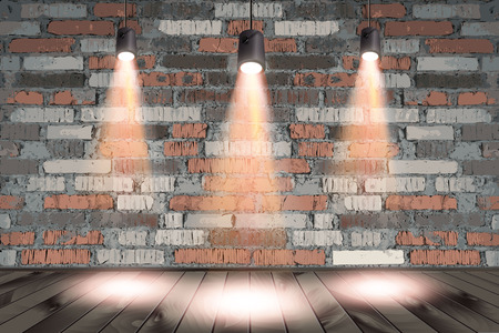 Background image of dark wall with light spot . Vector illustration Ilustrace