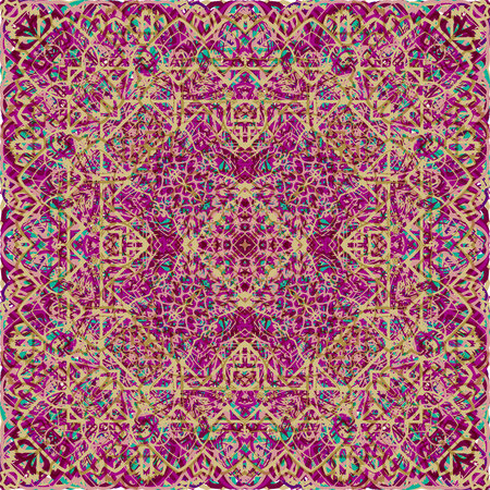 Vintage seamless pattern in Arabic style. Vector illustration. For your graphic design. 写真素材 - 122861572