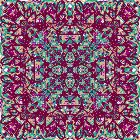 Vintage seamless pattern in Arabic style. Vector illustration. For your graphic design.
