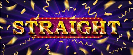 Straight. Illustration Online Poker casino banner with a mobile phone, chips, playing cards and dice. Marketing Luxury Banner Jackpot Online Casino with Smartphone. Empty advertising poster. Standard-Bild - 131966884
