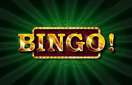 Bingo Banner Vector. Casino Glowing Lamps. For Fortune Advertising Design. Gambling vector Illustration Standard-Bild - 131967457
