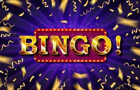 Bingo casino banner, first deposit bonus, vector illustration Reklamní fotografie - 131967245