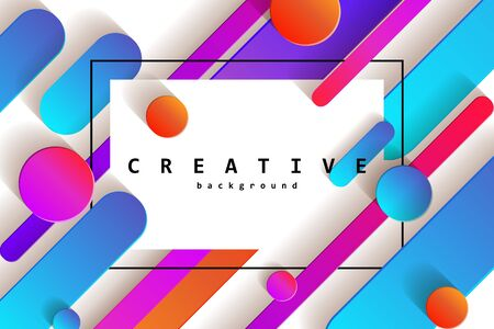 Minimal covers design. Colorful halftone gradients.background modern template design for web. Cool gradients. Future geometric patterns. White background. Vector illustration Standard-Bild - 131967326