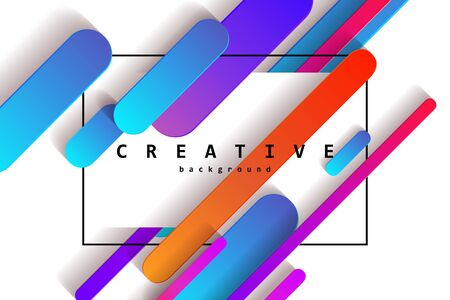 Minimal covers design. Colorful halftone gradients.background modern template design for web. Cool gradients. Future geometric patterns. White background. Vector illustration Standard-Bild - 131966984