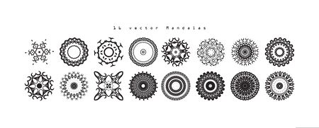 Mandala. Vintage decorative elements. Hand drawn background. Islam, Arabic, Indian ottoman motifs Vector illustration  イラスト・ベクター素材