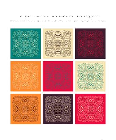 Mandala. Vintage decorative elements.   background. Islam, Arabic, Indian ottoman motifs Vector illustration