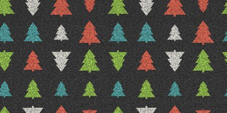 Abstract pine tree forest seamless pattern background. Vector illustration  イラスト・ベクター素材