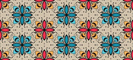 Islamic seamless pattern. Abstract background. Vector illustration