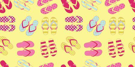 Seamless pattern with flip flops. Vector illustration Standard-Bild - 129996143