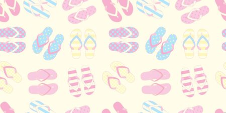 Seamless pattern with flip flops. Vector illustration