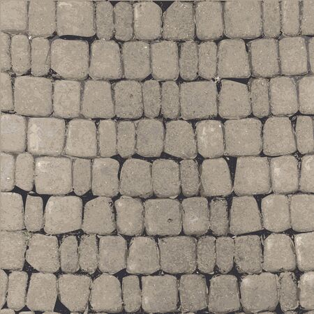 View from above background texture grey stone wall. Vector illustration For Ui Game element