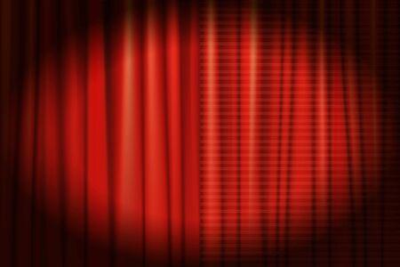 Spotlight on stage curtain. Vector illustration
