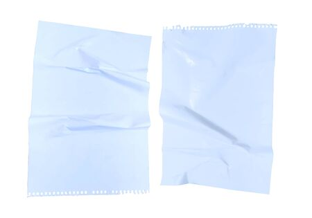 2 crumpled sheets of paper on a white background vector illustration
