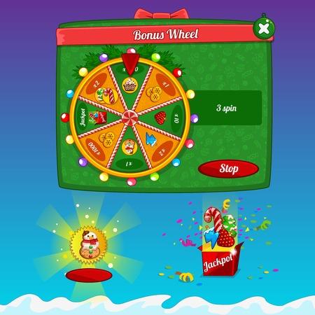 rueda de la fortuna: Los elementos de diseño de la interfaz del juego
