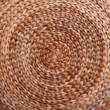 Background. Wicker texture has made from banana and rattan. Circle photo