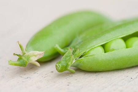 some green pea pods closeup photo