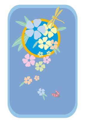 sumer: ornament blue flowers