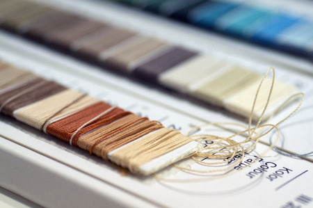 Catalogue of threads. Multicolored furniture threads.