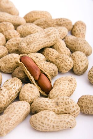 much: much peanuts on isolated background