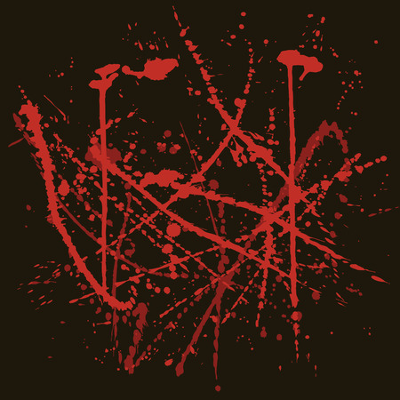 crime scene: Vector background with red splashes. Stains of blood. Crime scene background.