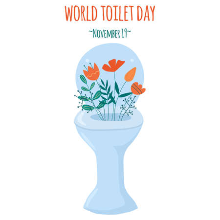 Vector illustration in doodle style: world toilet day. Illustration for postcards, website, stickers.