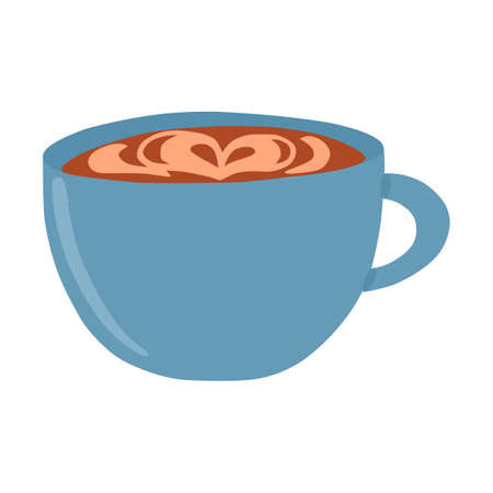 Vector illustration: cup with coffee in hand draw hygge style. Vector illustration Ilustração