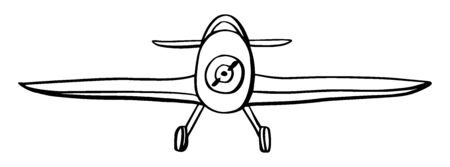 Sign airplane in hand drawn doodle style isolated on white background. Agricultural aircraft vector outline stock illustration. Icons for kids playing, t shirt print.